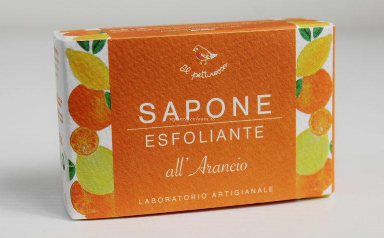 Sapone Esfoliante all' arancio Il Pettirosso