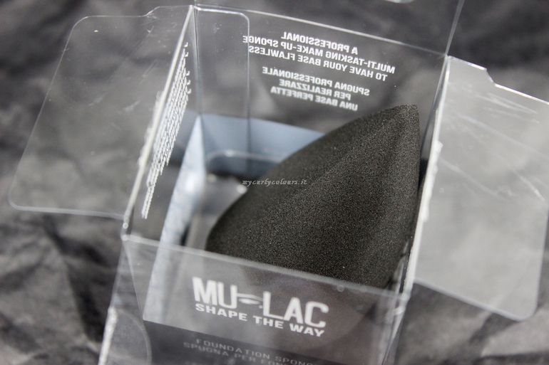 Dettaglio Make up sponge Shape The Way Mulac Cosmetics