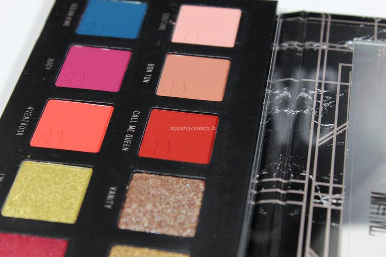 Dettaglio ombretti matte Palette Different II Mulac Cosmetics