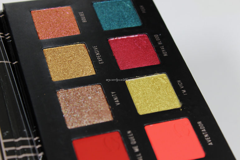 Dettaglio ombretti shimmer palette Different II Mulac Cosmetics