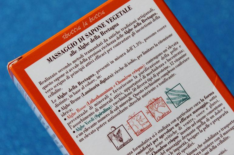 Dettaglio alghe Massaggio di sapone vegetale Helan