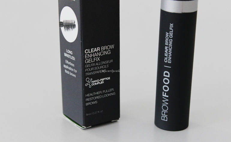 Dettaglio packaging Fissante per sopracciglia Clear Brow Enhancing Gelfix BrowFood
