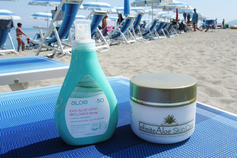 Infinite aloe Skin care e Aloe Spray AloeBio50 Athena's doposole 2018