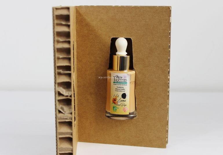 Packaging esterno Fondotinta Bifasico EcoBio Quarti di Luna Miss Trucco