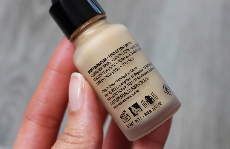 specifiche Total Control Drop Foundation NXY Professional Makeup