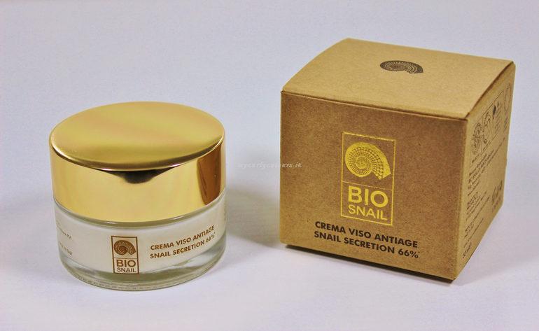 Packaging Crema Viso Antiage Snail Secretion 66% Bio Snail