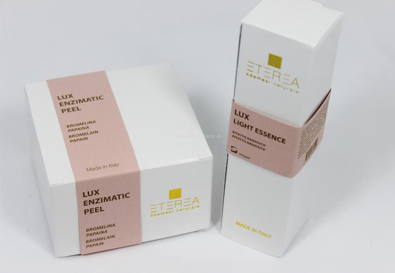 Lux Enzymatic Peel e Lux Light Essence Eterea Cosmesi