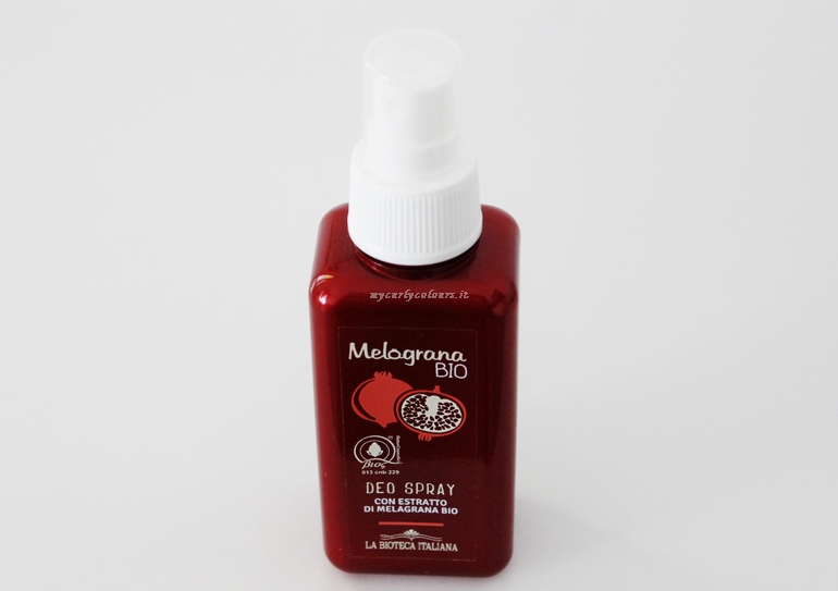 Deo Spray Melograna Bio La Bioteca Italiana