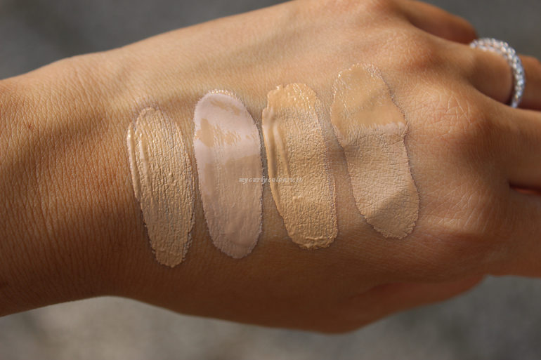 Swatch Sublime Fondotinta e Sublime Drop Foundation 02 e 03 all' esterno