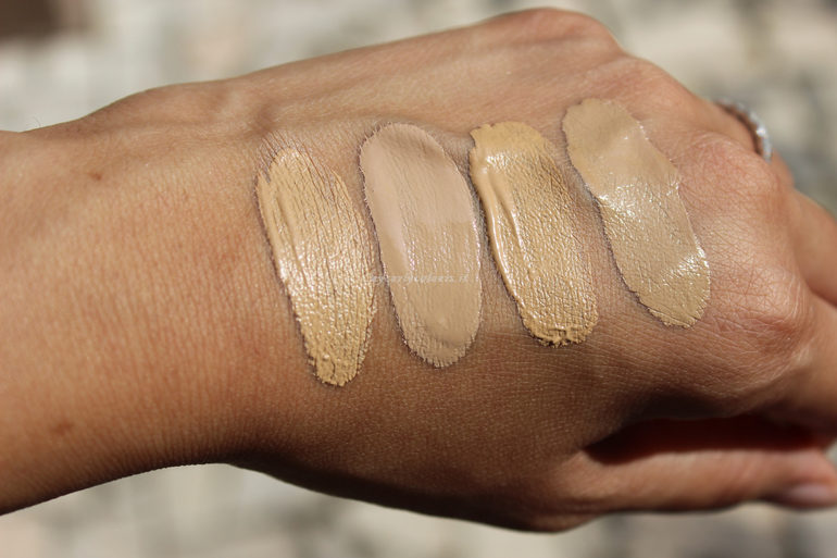 Swatch Sublime Fondotinta e Sublime Drop Foundation 02 e 03 al sole