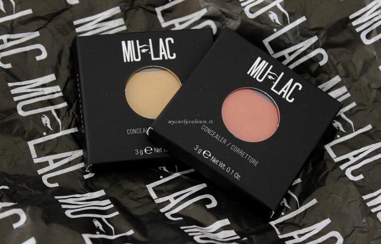 Correttori Mulac Cosmetics 2M e 3M Light to Medium