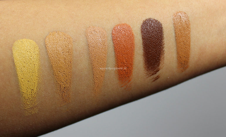 Swatch Conceal, Correct, Contour Palette NYX col. 03 Deep