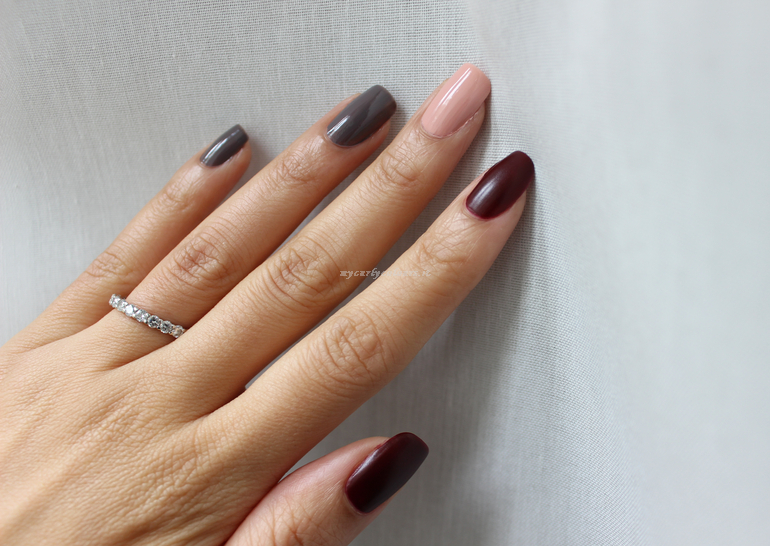 Swatch Smalti Faby Diaries Sophisticated, Skin Tight, Embers