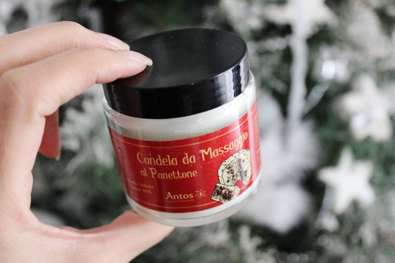 Candela da massaggio al Panettone Antos Natale 2018