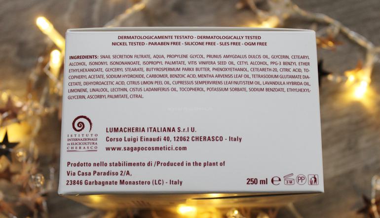 Inci Crema Corpo da massaggio Wine Therapy S'Agapò