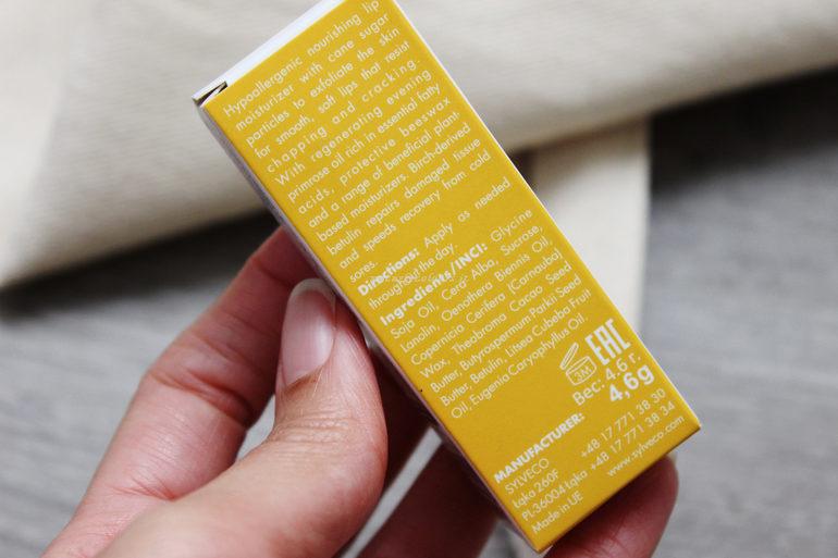 Inci e specifiche Lip Balm con scrub Sylveco