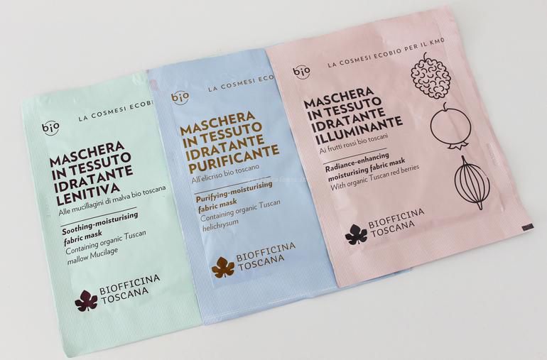 Maschera in tessuto idratante Biofficina Toscana