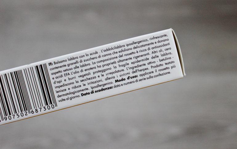 Specifiche LipBalm con scrub Sylveco