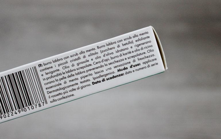 Inci e specifiche Lip Scrub alla menta Sylveco