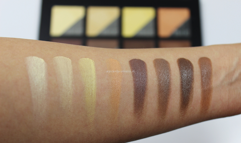 Swatch contouring and highlighting Face Palette Atene Mulac