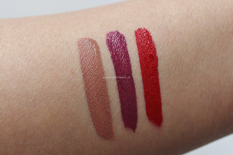 Swatch Lip Mousse MD Cosmyfy 02 Capitol 08 Wine Country 11 Lava