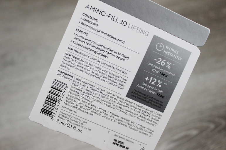 Specifiche Amino Fill 3D Booster Mádara