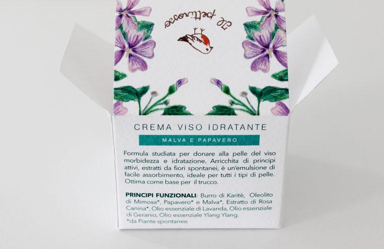 Specifiche Crema Viso Idratante Malva e Papavero Il Pettirosso Cosmetici