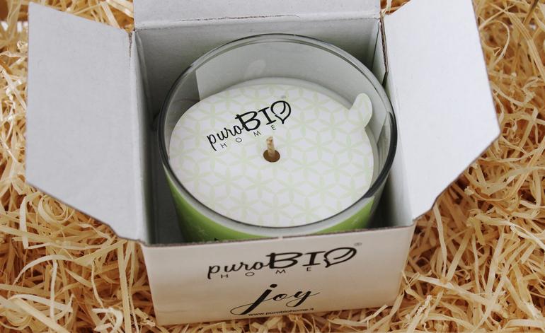 Packaging Candela da Massaggio PuroBio Home Joy