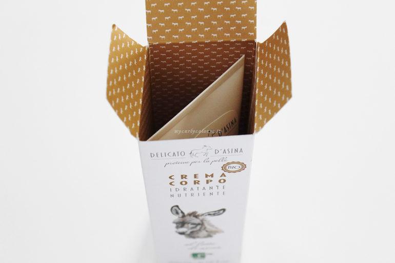 Packaging Crema corpo Delicato d'Asina La dispensa