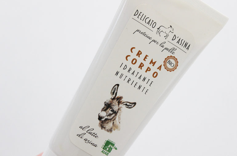 Packaging Crema corpo Delicato d'Asina La dispensa