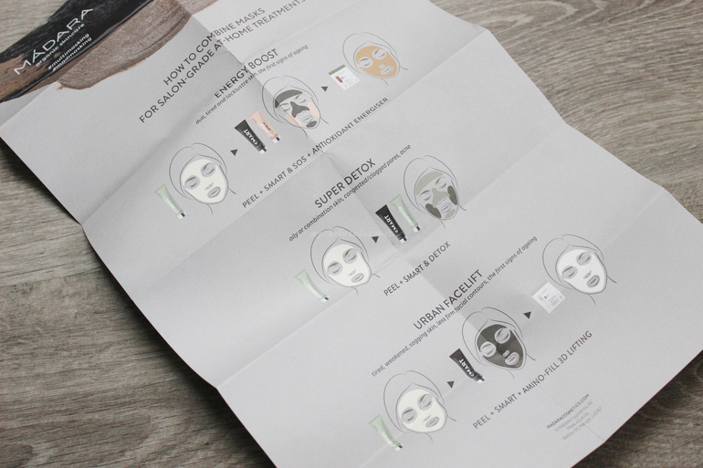 Indicazioni modo d' uso Multimasking Treatment Set Mádara