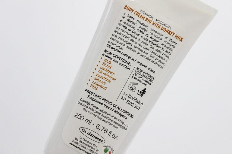 Specifiche Crema corpo Delicato d'Asina La dispensa