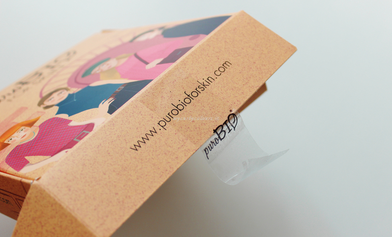 Dettaglio box maschere viso puroBio for Skin