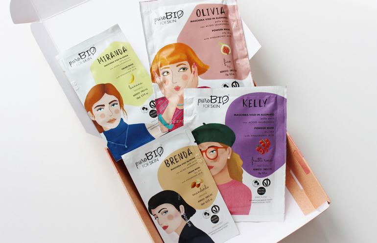 Maschere viso puroBio for Skin in crema e peel off