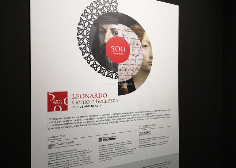Mostra Leonardo Genio e Bellezza Cosmoprof 2019