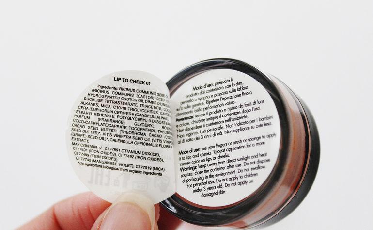 Specifiche, Inci, modo d'usoLip to cheek Anniversary#2 PuroBio Cosmetics