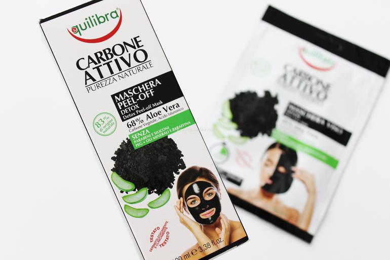 Maschera Peel Off Linea Carbone Attivo Equilibra