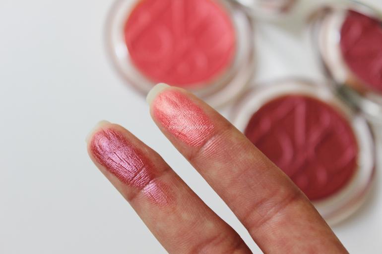 Swatch Diorskin Nude Luminizer Blush Dior 10 Coral Pop e 11 Plum Pop