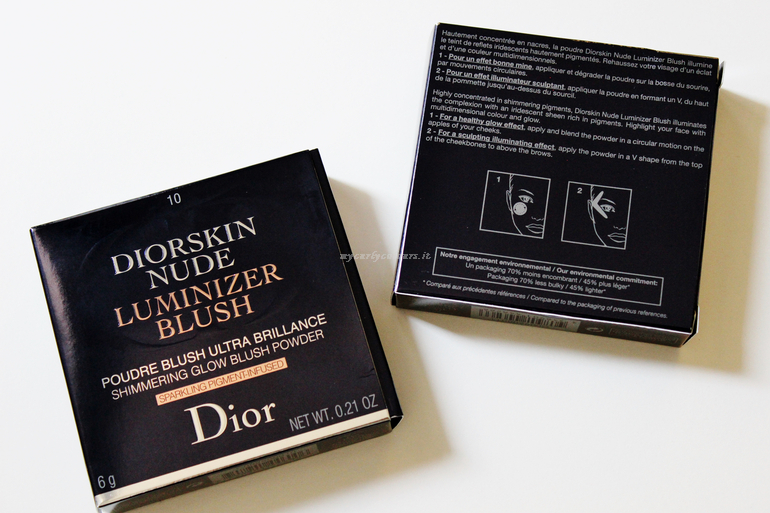 Diorskin Nude Luminizer Blush Dior dettaglio packaging