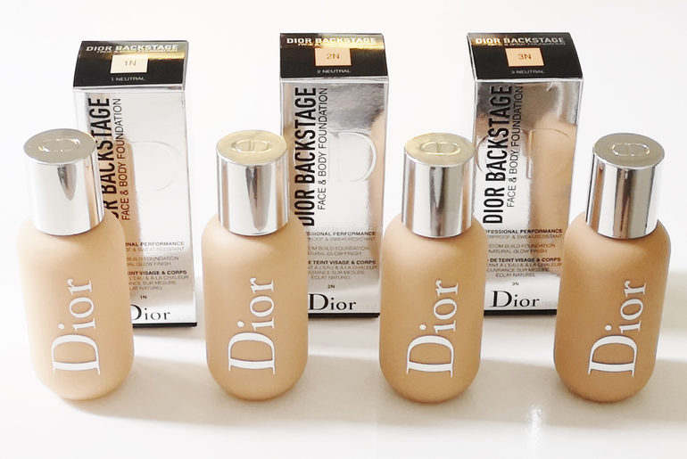 Face & Body Foundation Dior Backstage 1N, 2N, 2.5 N, 3N