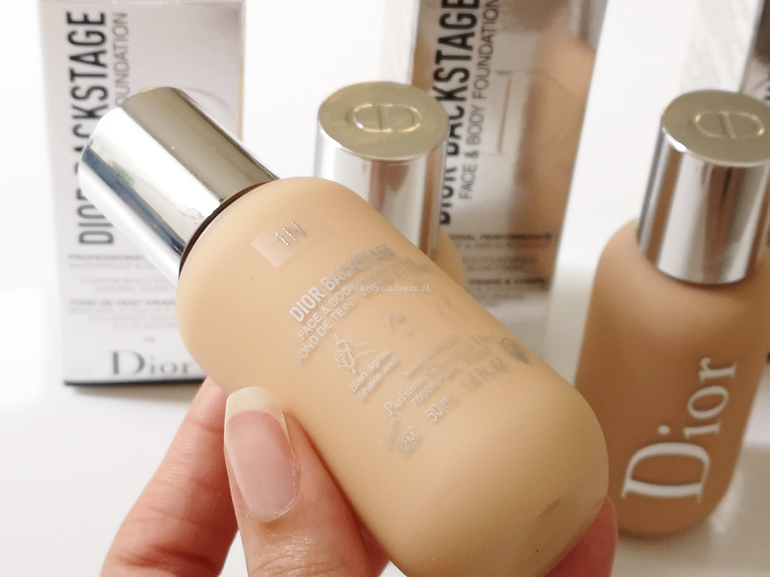 Face & Body Foundation Dior Backstage dettaglio packaging