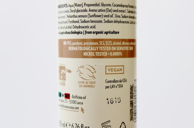 Dettaglio Inci Mousse Basic Viso Corpo Capelli linea Origini Biofficina Toscana