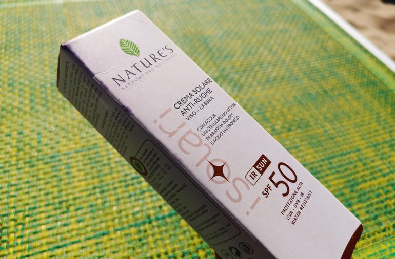 Crema Solare Anti-rughe Viso e labbra Nature's SPF 50