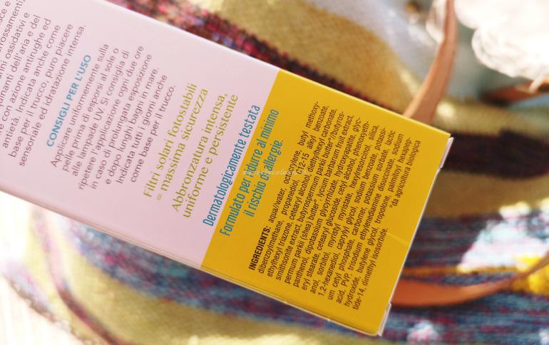 Inci Crema viso solare antimacchia antiage antinquinamento SPF 30 DNA Protection Farmaderbe