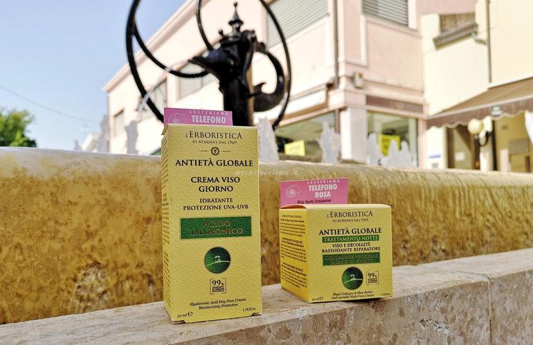 Crema Viso Giorno e Trattamento Notte Antietà Globale L'Erboristica di Athena's