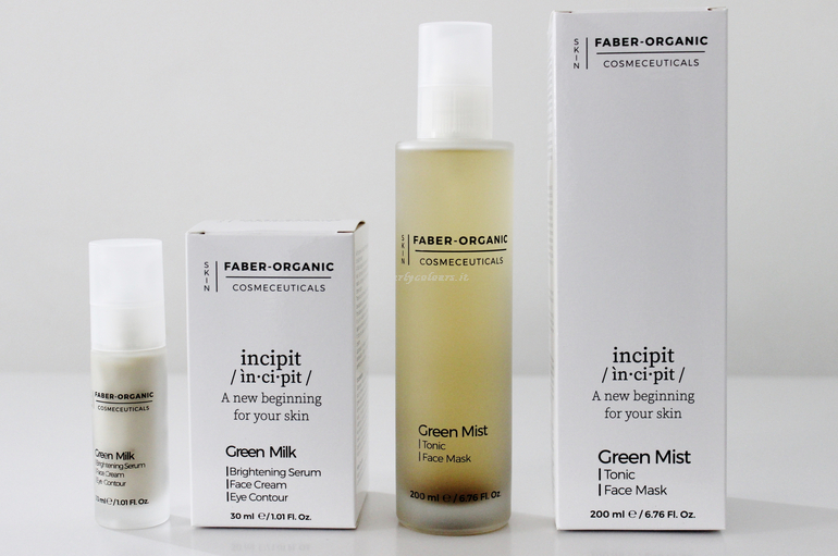 Green Milk e Green Mist Incipit Faber Organic