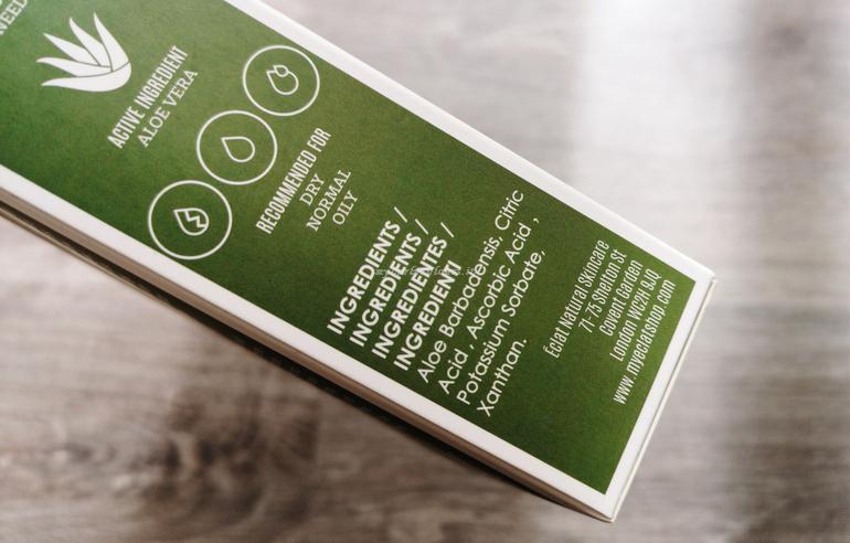 INCI Aloe Vera Gel Eclat Natural Skincare