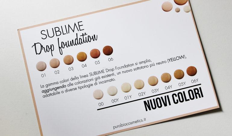 8 nuove tonalità Dropo Foundation Anniversary#4 Purobio Cosmetics