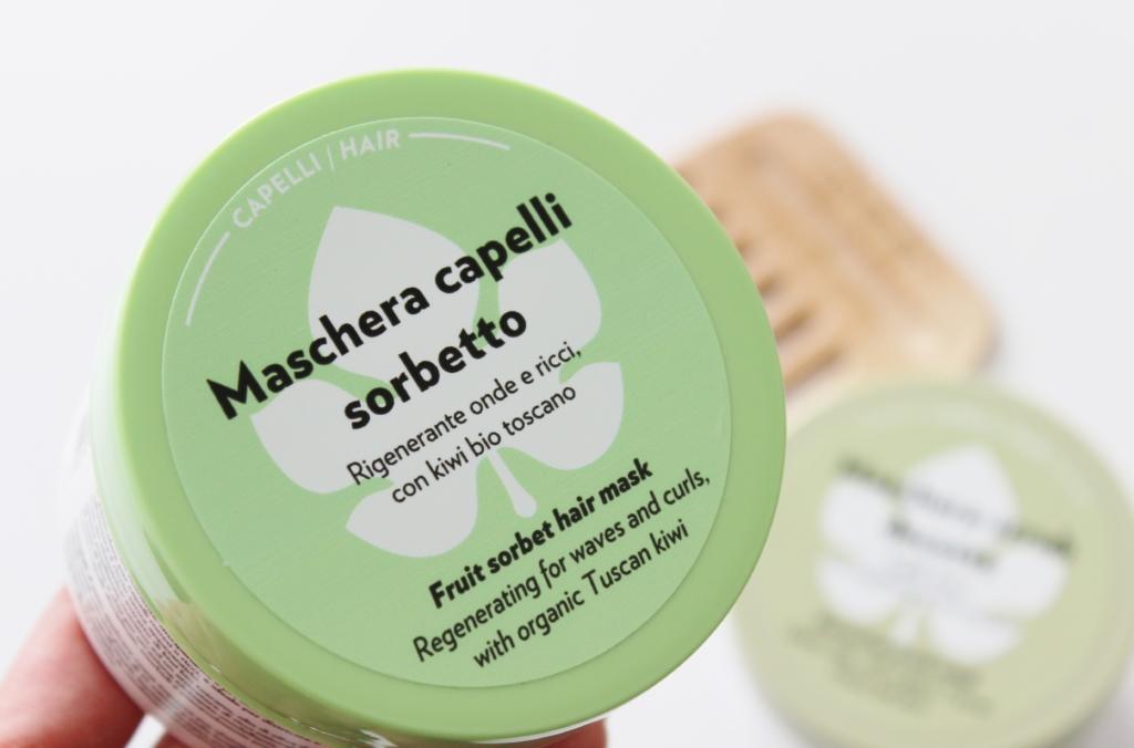 Maschera Sorbetto Rigenerante Onde e Ricci al Kiwi Bio toscano Biofficina Toscana