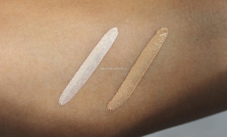 Swatch nuove tonalità Sublime Luminous Concealer 00 e 2.5 Anniversary#4 Purobio Cosmetics